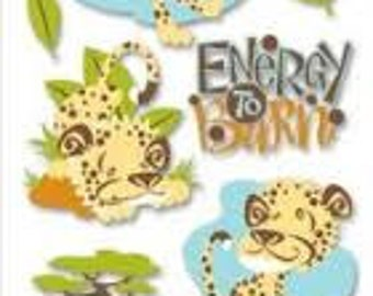 Ek Success Jolees Boutique CHEETAH ENERGY Dimensional Stickers