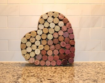 Wine Cork Heart Home Decor