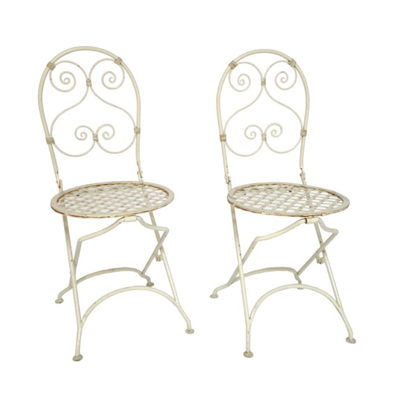 French Folding Bistro Chairs by ErinLaneEstate on Etsy