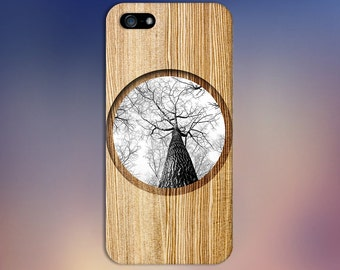 Black x White Tree Bark Portrait x Wood Case for iPhone 6 6 Plus iPhone 7  Samsung Galaxy s8 edge s6 and Note 5  S8 Plus Phone Case