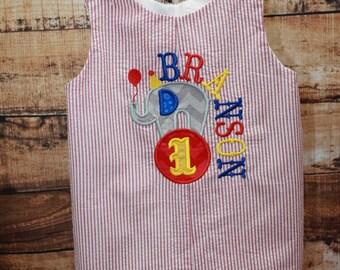Circus Elephant Jon,Circus Birthday Jon, Applique Circus Jon,Embroidered Applique Jon Shortall