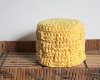 Toilet Paper Roll Cover, Crochet Cover for Toiler Paper, Bathroom Decor, Yellow Decor, Toilet Paper Storage