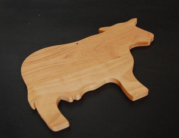 vache en forme de planche 224 d 233 couper en bois bois fait 224 la