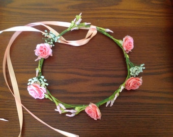 Rose fairy crown