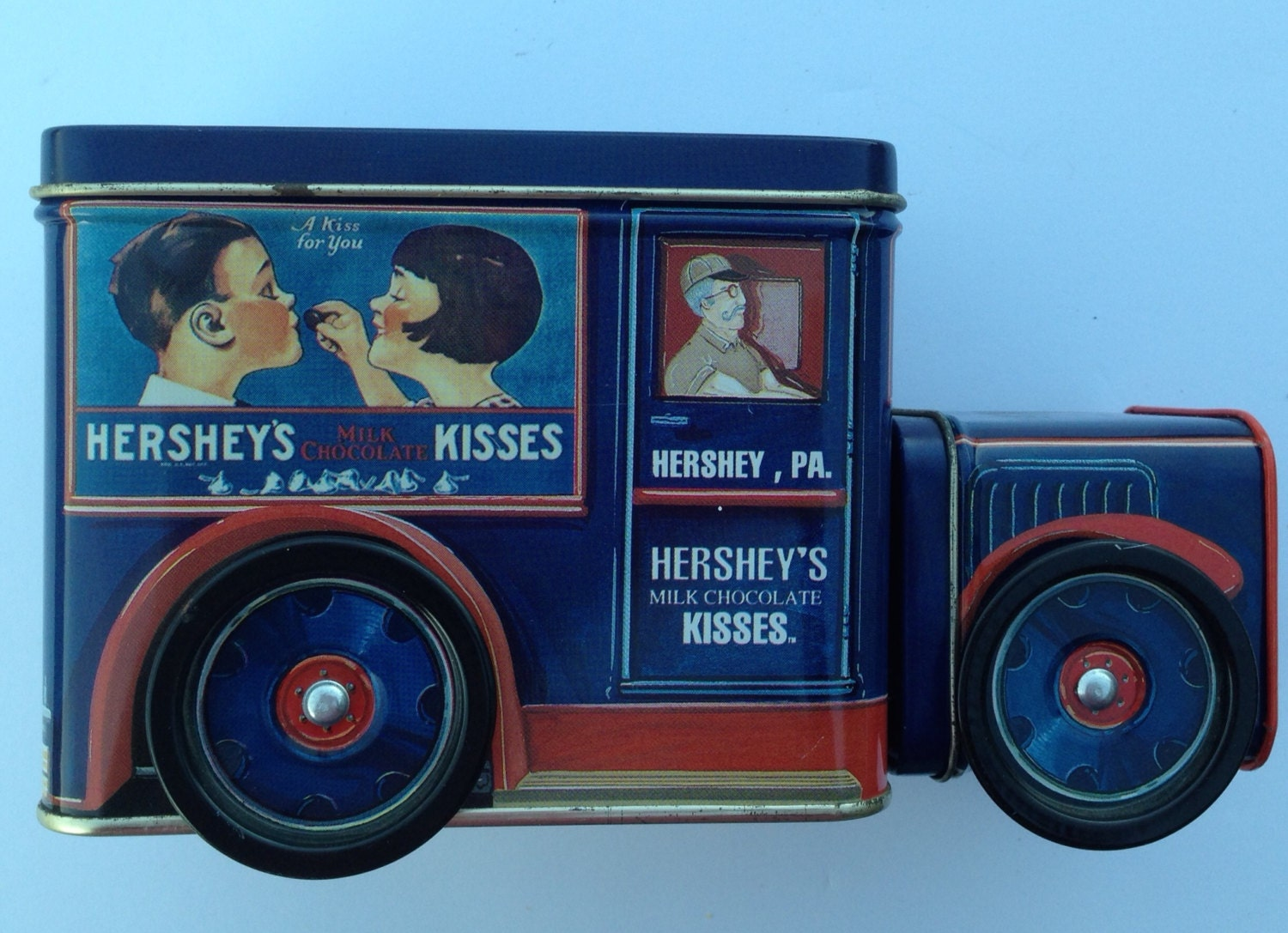 Vintage Hershey S Collectible Tin Truck Canister By