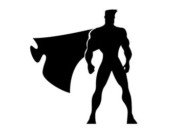 Super Hero with Cape - Comic Book - Car/Truck/Home/Laptop/Sports Room/Computer/Phone Decal (Listing #DP00001)