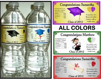 100 GRADUATION WATER BOTTLE Labels ~ Glossy ~ Waterproof Ink