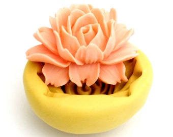 LARGE Flower Mold Mould Resin Clay Fondant Wax Soap Fimo Cabochon Kawaii Flexible Silicone Mold