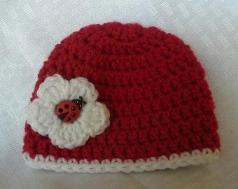 Newborn Lady Bug Hat