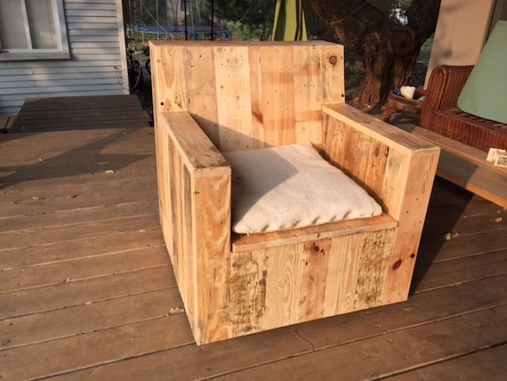 Outdoor sofa reclaimed wood recycled furniture by themallet