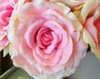 Vintage Pink Artificial English Garden Roses