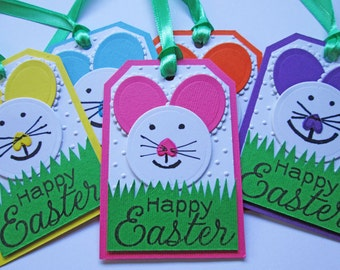 Easter Gift Tags, Happy Easter Tags, Easter Bunny Tags, Easter Favor Tags, Easter Hang Tags