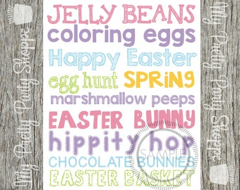 Easter Subway Art Printable 8x10 Sign *INSTANT DOWNLOAD*