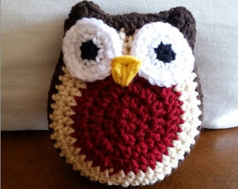 Crocheted Owl Stuffed Animal