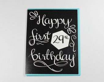 Birthday Card, Funny Birthday Card, Friend Birthday Card, Family Birthday Card, 29th Birthday Card, Happy First 29th Birthday