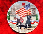 "Knowles Limited Edition Don Spaulding ""The Fourth of July"" Collector Plate"