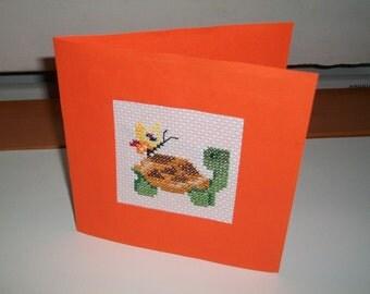 Orange turtle card