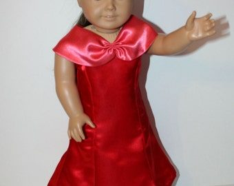 Ruby Dreams party dress fits 18 inch dolls
