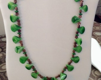 "Green Tears 34"" Necklace"