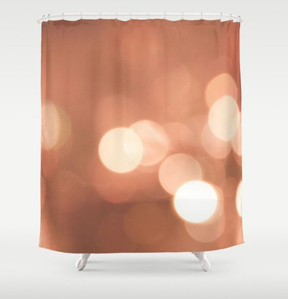 Items similar to apricot shower curtain peach shower for Peach bathroom set