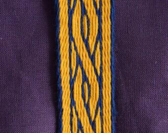 Silk Tablet Woven Braid (Belt, Trim) Based on Birka Finds, Viking Tablet Weaving, Card Woven Medieval Braid, Viking Costume