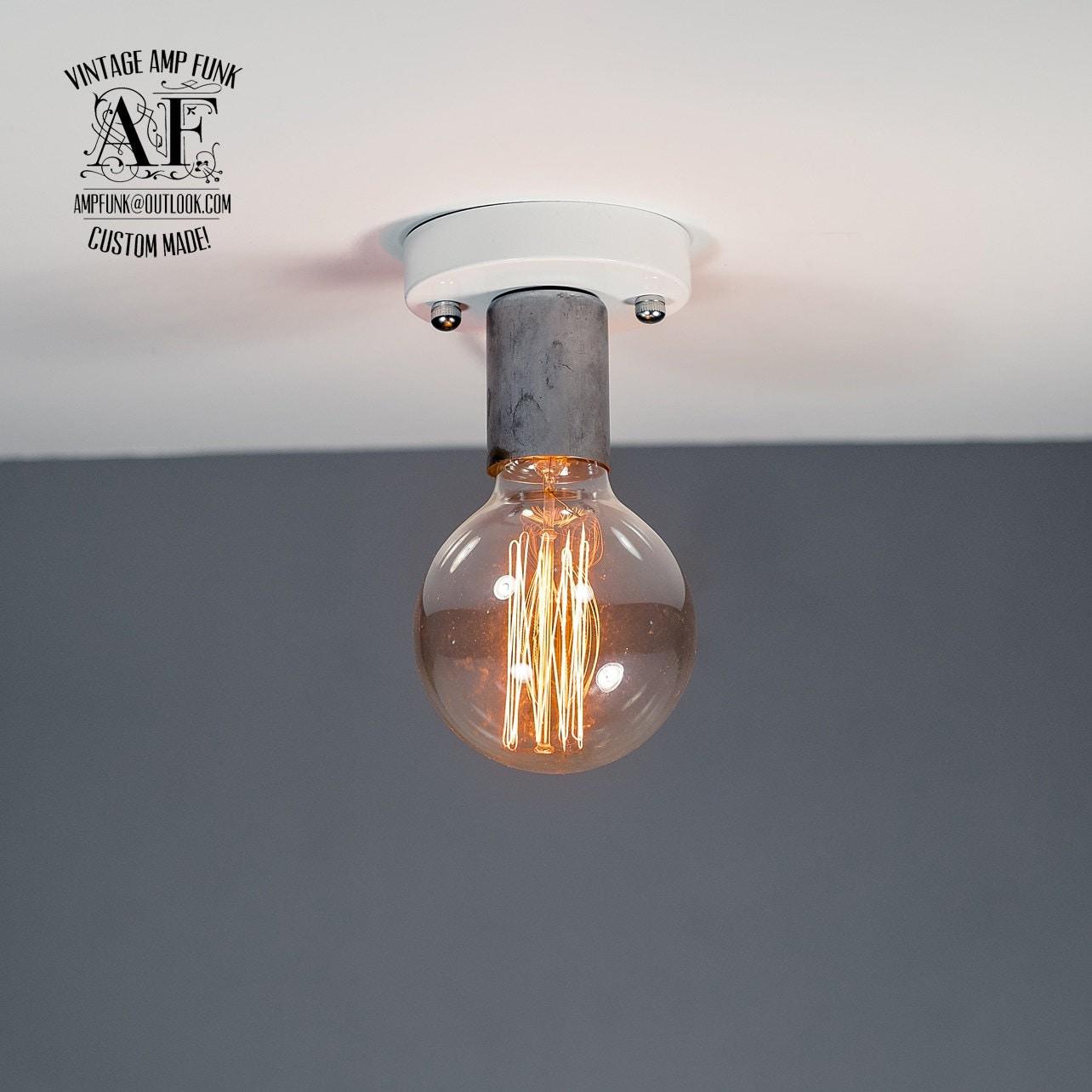 Ceiling light socket bunnings : Steel nickel socket ceiling light industrial aluminium