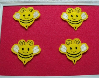 Bumble Bee Feltie Scrapbooking, Bow Center< Card Making