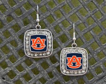 Auburn Tigers Square Earrings