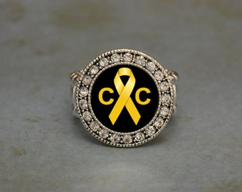 Childhood Cancer Awareness Stretchy Ring