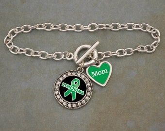 Custom Loved One Lymphoma Awareness Bracelet