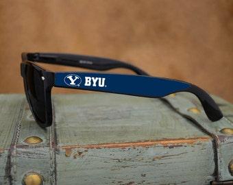 BYU Cougars Black Wayfarer Sunglasses