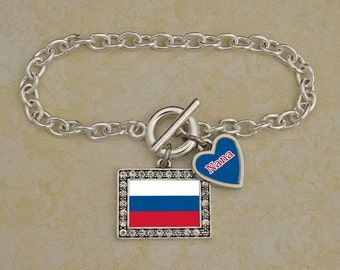 Custom Family Russia Bracelet - FLAGRU54591