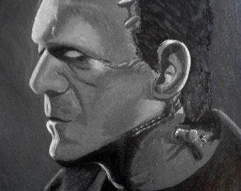 Frankenstein's Monster Painting