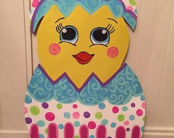 Easter Door Decor , Easter Decor , Easter Decorations , Easter Door Hanger , Easter Wreath , Easter wooden door hanger , Easter Egg