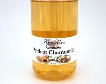 Apricot Chamomile Scented Liquid Soap or Foaming Soap *8 oz*