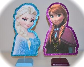 Disney Frozen Elsa and Anna Set Centerpieces (DOUBLE-SIDED)
