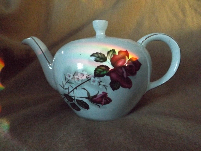 Vintage Heatmaster Teapot Unique Tea Floral Teapot