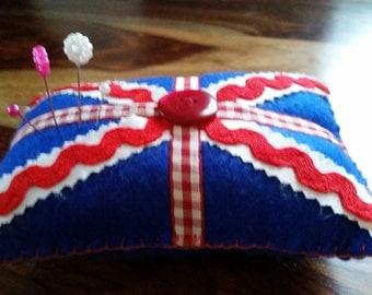 Handmade Felt Union Jack Pincushion