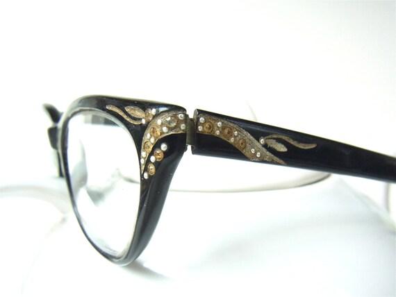 vintage cateye glasses rhinestone womens 1950s rhinestones ...