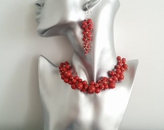 Red Currant Swarovski Pearl Necklace