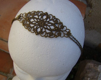 metal lace headband