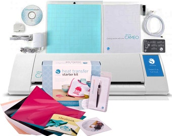 Silhouette Cameo V2 Touch Screen + Heat Transfer Starter Kit + FREE  Dust Cover -346.97 VALUE