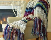 RESERVED for Lynne, Modern Home Décor Afghan Knit Blanket Afghan Blanket Sofa Blanket