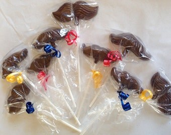 12 Chocolate Mustache Lollipops Party Favors Mario Birthday Shower