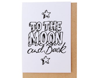 Blank Cards - To the Moon and Back