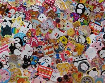 Lot 90 STICKER flakes sack cute kawaii san-x crux kamio q-lia sanrio cute mindwave japan stationery filofax journal decorate zakka gift