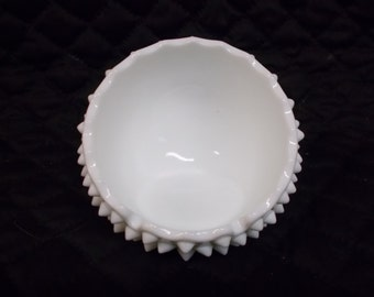 Fenton Glass Hobnail Milk Glass Ash Tray