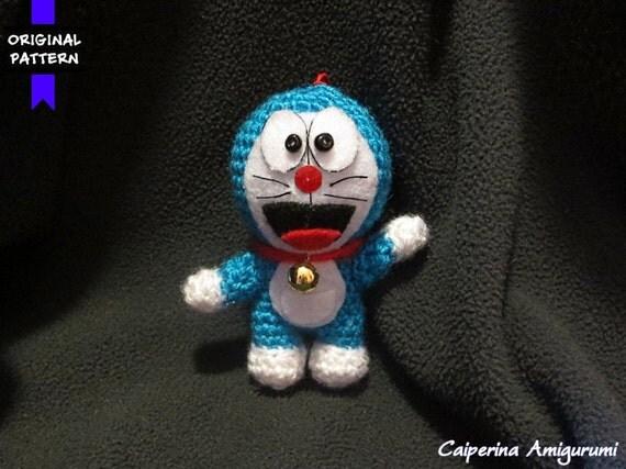 Amigurumi Doraemon Tutorial : Doraemon amigurumi keychain