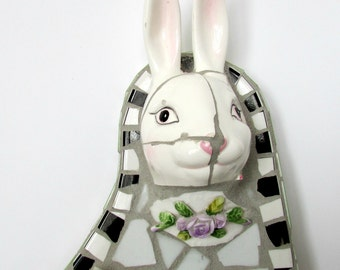 Broken China Mosaic Bunny 3D