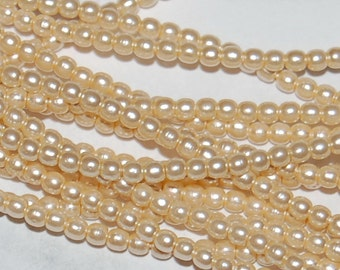 2mm Glass PEARLS 70741, Ivory, sold in units of 300